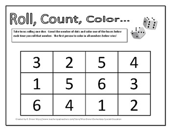 Roll, Count, Color (1 Dice)