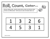 Roll, Count, Color 1-6 (8 boxes)