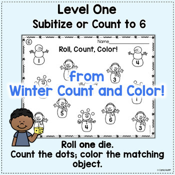 Roll! Count! Color!  All Year! Counting/Addition to 12 Bundle