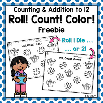 Roll! Count! Color!  Counting & Addition Within 12 Free Sample