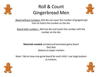Roll & Count Gingerbread Men