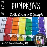 Math Center: Roll, Count & Graph Pumpkin Themed Math Activities {PreK-1}