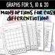Math Center: Roll, Count & Graph Pumpkin Themed Math Activ