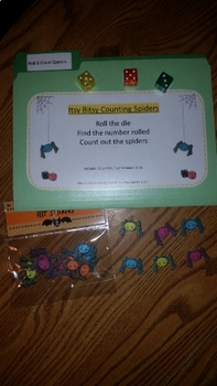 """Roll & Count """"Itsy Bitsy Spiders"""""""