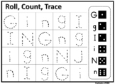 Roll, Count, and Trace Alphabet Upper and Lowercase