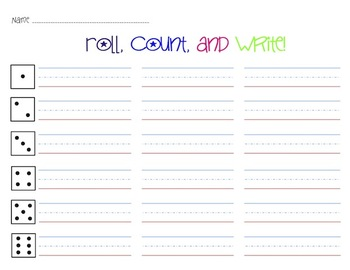 Roll, Count, and Write - Activity Pack 1