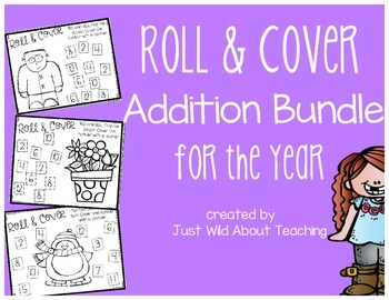 Roll & Cover {Addition Bundle} for the Year