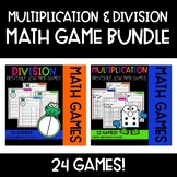 Roll & Cover Math Games {BUNDLE MULTIPLICATION & DIVISION}