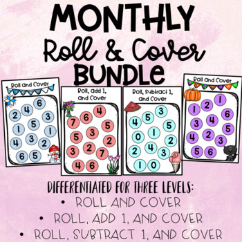 Roll & Cover Monthly Bundle Differentiated for 3 Levels