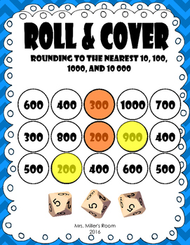 Roll & Cover: Rounding to the Nearest 10, 100, 1 000, and 10 000
