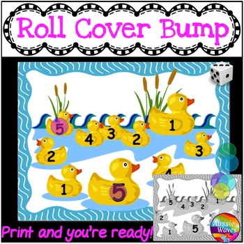 Math Center Games Learning NUMBERS 1-5 RECOGNITION Roll Cover Bump Fun