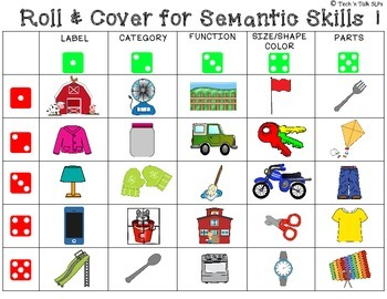 Roll & Cover for Semantics FREE Sample