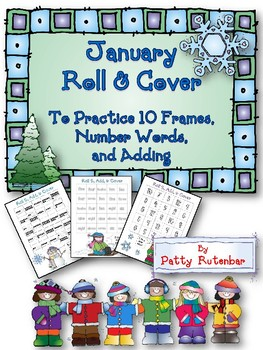 Roll & Cover to Build 10 Frames & Number Words - Great for K, 1, 2