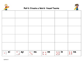 Roll & Create a Word Packet