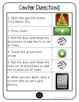 iPad Roll & Decorate a Christmas Tree - iPad integration with dice game