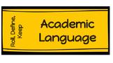 Roll, Define, Keep Academic Language Game