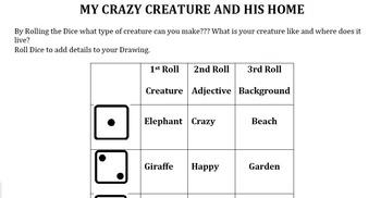 Sub Plan - Roll a Creature