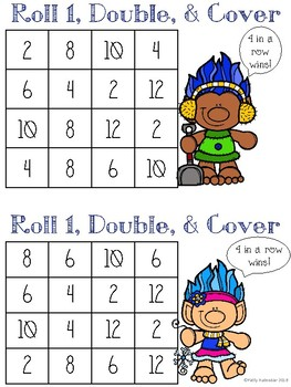 Roll, Double, and Cover Winter Theme - Color Set