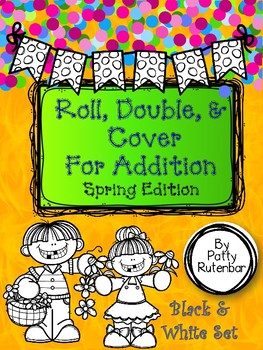 Roll, Double, and Cover Spring Themed - Black and White Set