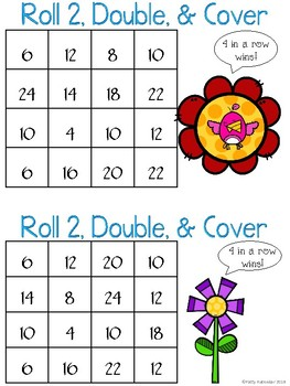 Roll, Double, and Cover Spring Themed - Color Set