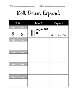 Roll. Draw. Expand.  Place Value Center