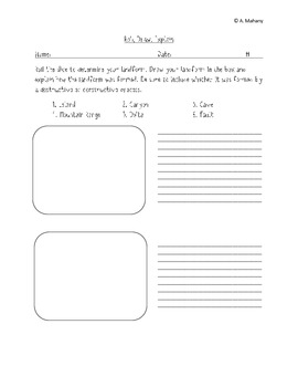 Roll, Draw, Explain - A Landforms Review Game