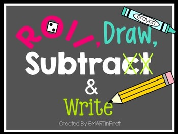 Roll, Draw, Subtract and Write Game