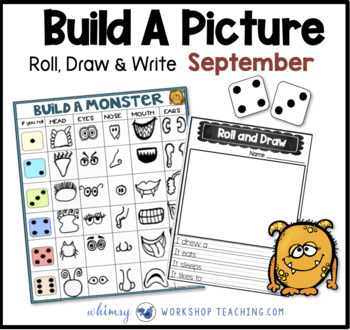 Roll Draw and Write (Math and Literacy Program) Whimsy Workshop Teaching