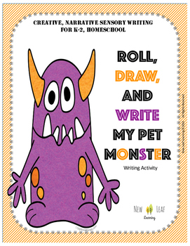 Roll, Draw and Write My Pet Monster