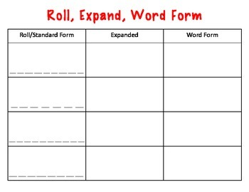 Roll, Expand, Word Form