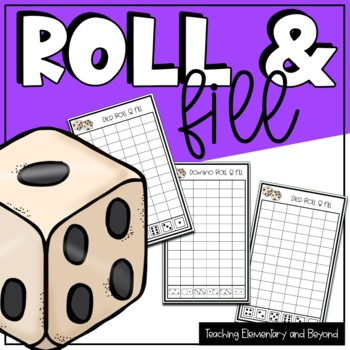 Roll & Fill Number Identification and Graphing Worksheet and Activities