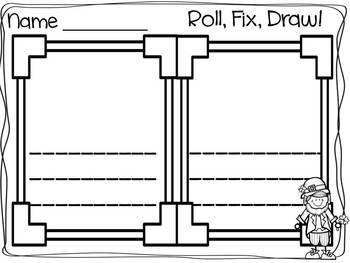 Roll, Fix, Draw! March Edition: Differentiated Writing Centers for March