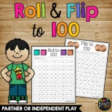 100th Day of School Game, Roll and Flip to 100, Coins and Dice