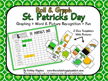 FREE Roll & Graph St. Patrick's Day {A Hughes Design}