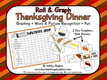 FREE Roll & Graph Thanksgiving Dinner {A Hughes Design}