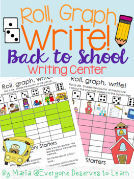 Back to School Writing and Graphing Center