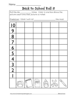 Roll, Graph and Do- Back to School
