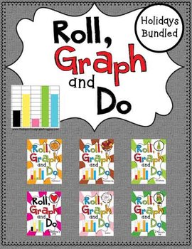 Roll, Graph and Do- Holidays Bundle