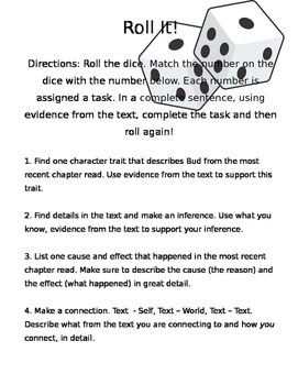 Roll It! (Comprehension Game for Any Novel)