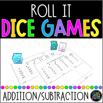 Roll It Dice Games | Addition and Subtraction Dice Games | Math Dice Games