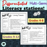 Differentiated Literacy Stations - Dice - Reading Comprehe