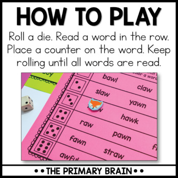 Roll It, Read It, Color It Blends and Digraphs Activity