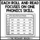 Roll It, Read It, and Color It - Blends and Digraphs Activity