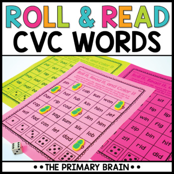 Roll It, Read It, and Color It CVC Word Activity