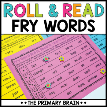Roll It, Read It, and Color It Fry Word Activity