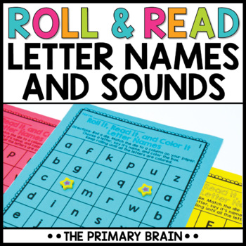 Roll It, Read It, Color It Letter Names and Letter Sounds Activity