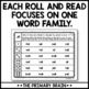 Roll It, Read It, and Color It Word Family Activity