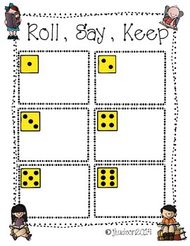 Roll It, Say It, Keep It!   (Color and Number Words)