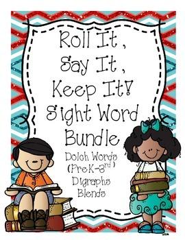 Roll It, Say It, Keep It  (Sight Word Bundle)