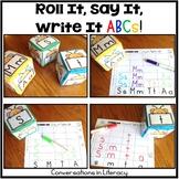 Letter Identification Roll It, Say It, Write It ABCs
